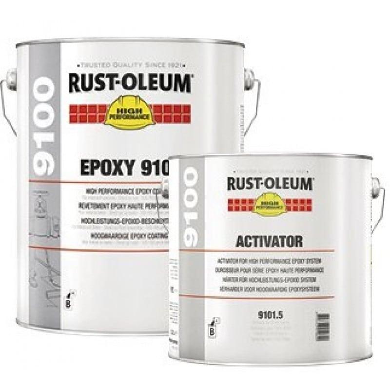 Rust-Oleum 9100 Epoxy Topcoat Ba. Transp.Set + Hs Verharder